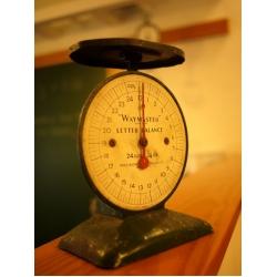 英國WAYMASTER1940年代深綠色古董秤