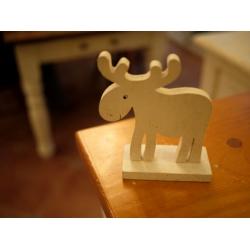 木製雪白麋鹿